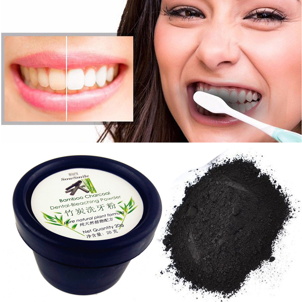 Tooth Powder Teeth Whitening Natural Organic Activated Charcoal Powder Teeth Whitening Total Whites Black Powder 20G
