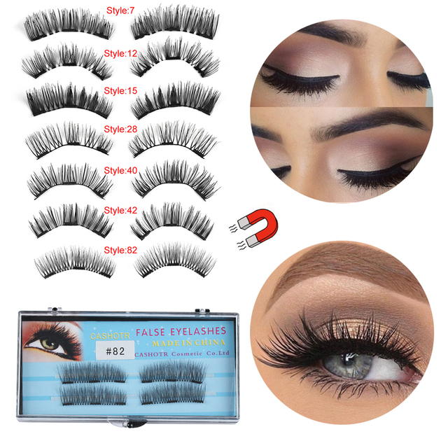 4dd1d961b5f 1Set 3DHandmade Triple Magnetic False Eyelashes Full Coverage Glue-free  Fake Eye Lashes Full Strip Lashes Makeup Extension Tools