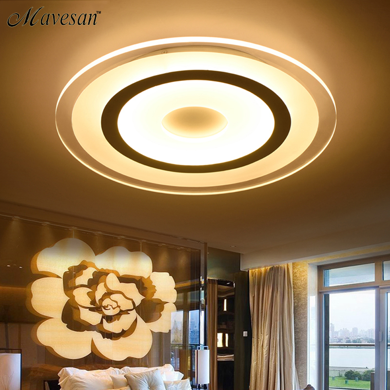New Circle Indoor Lighting Modern LED Ceiling Lights for Living Room Bedroom Lamp lamparas de techo abajur Ceiling Lamp Fixtures 2017 acrylic modern led ceiling lights fixtures for living room lamparas de techo simplicity ceiling lamp home decoration