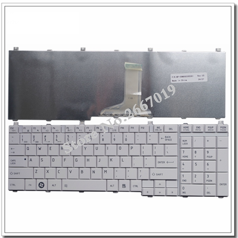 US For Toshiba For Satellite C655 C650 C655D C660 L650 L655 L670 L675 L750 L755 Laptop Keyboard English White