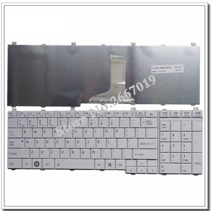 US For Toshiba For Satellite C655 C650 C655D C660 L650 L655 L670 L675 L750 L755 Laptop Keyboard English White