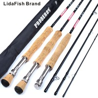 LidaFish Brand 2019 New Fly fishing rod 9 feet 2.7 m eters four high carbon fly fishing rod 3/4#5/6#7/8# fly maggot