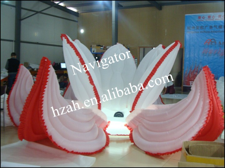 Hot Sale!Big Inflatable Lotus Inflatable Flower For Wedding