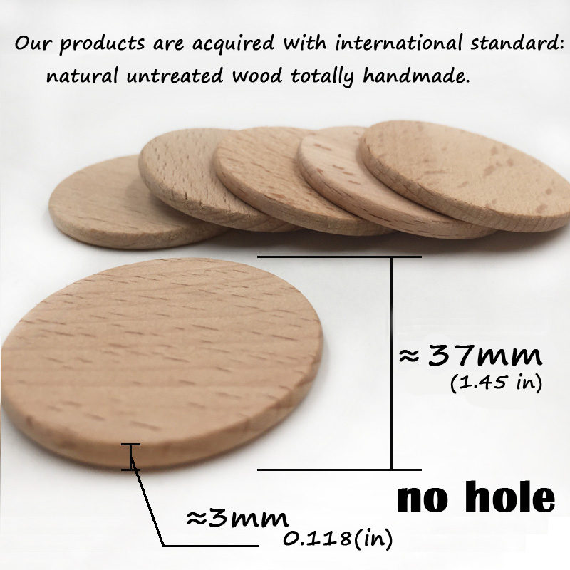 50mm Round Wooden Bead Ball 8mm Hole Natural Untreated Plain Wood 1 To 50