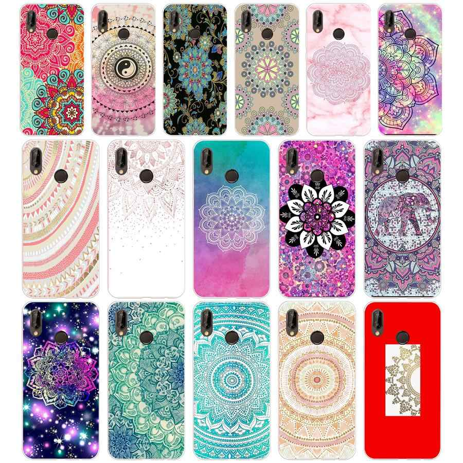 71SD gold mandala Soft Silicone Tpu Cover Case for  Honor 10 huawei p mate 10 20 lite y5 y6 prime 2018