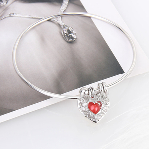 Image 5 - CLUCI 3pcs Silver 925 Heart Shaped Romantic Pendant Jewelry Gift for Women 925 Sterling Silver Pendant Pearl Locket SC299SB