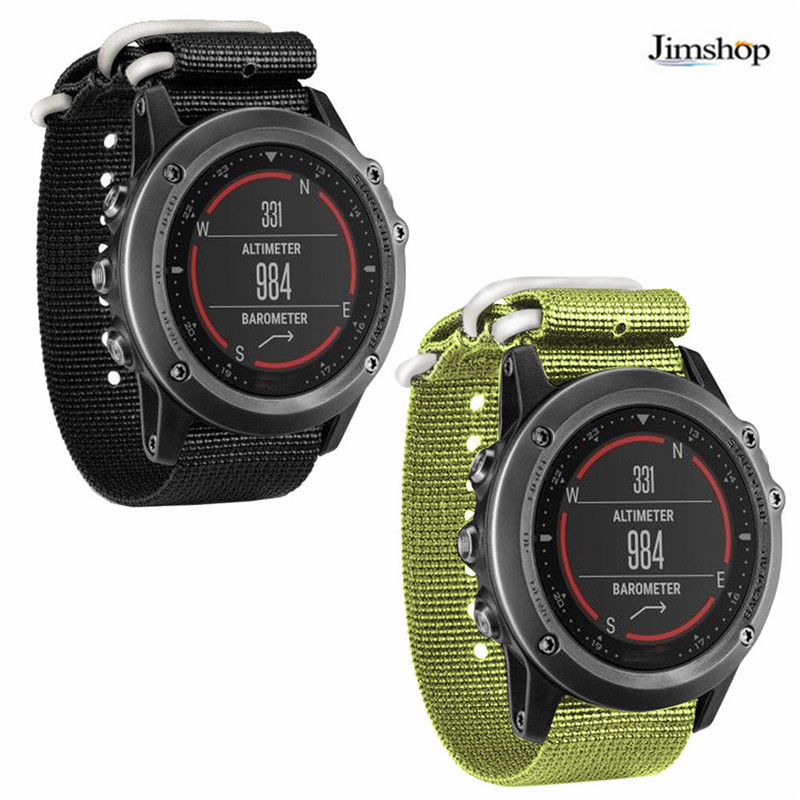 Fashion Luxury Nylon Strap 26mm 5 Ring Watch Replacement Band For Garmin Fenix 3 Black/Green 2017 Hot Sale Fast shipping fenix uc02 rechargeable black