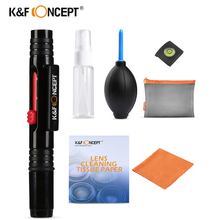 K & F концепция 7в1 пылеочиститель камера чистящий комплект линз ручка кисти/безворсовые салфетки/воздуходувка для Canon Nikon sony ручка для объектива камеры
