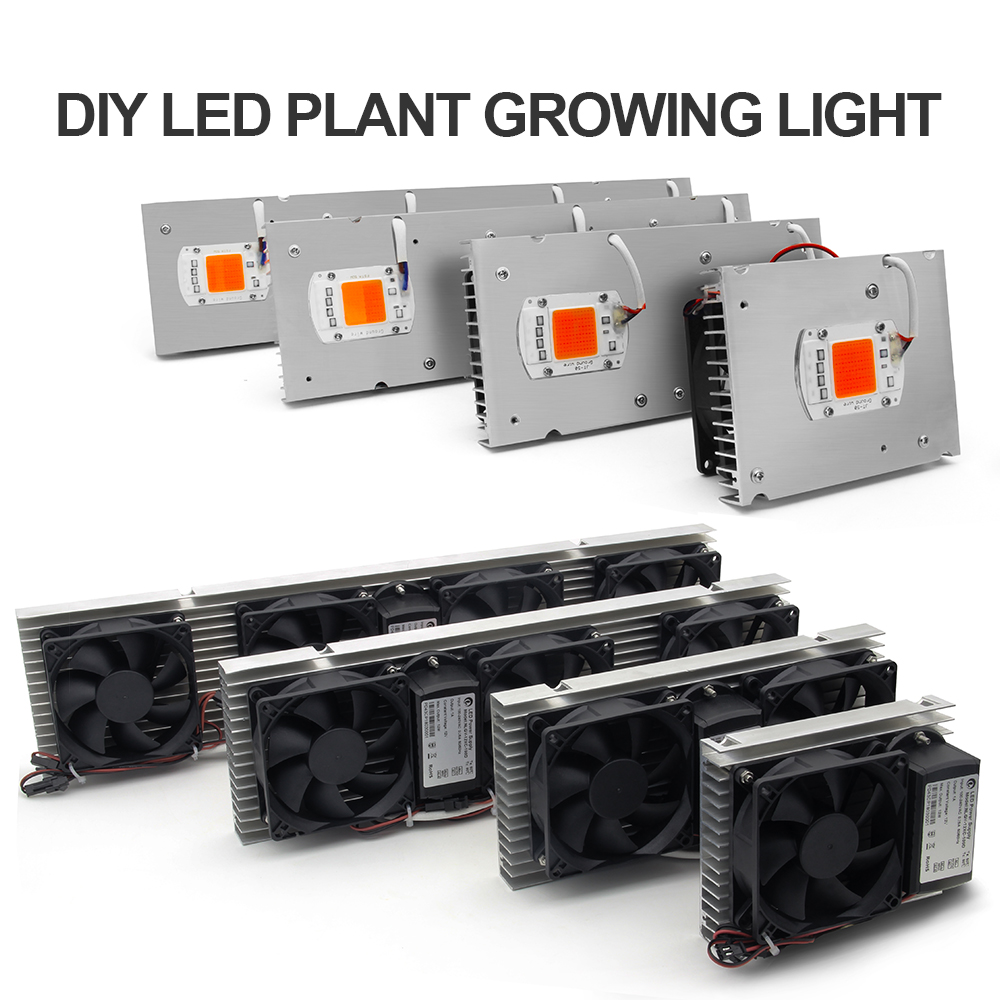 COB LED Grow Light Full Spectrum Actual Power 50W 100W 150W 200W LED Plant Grow Lamp for Indoor Plants Veg & Flowering Stage show plaza light stage blinder auditoria light ww plus cw 2in1 cob lamp 200w spliced type for stage