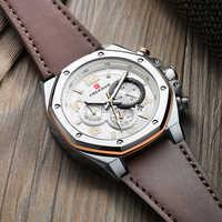 Reloj plateado de acero octogonal con esfera única, cronógrafo multifunción, Reloj deportivo para Hombre, marca de lujo, regalos para Hombre
