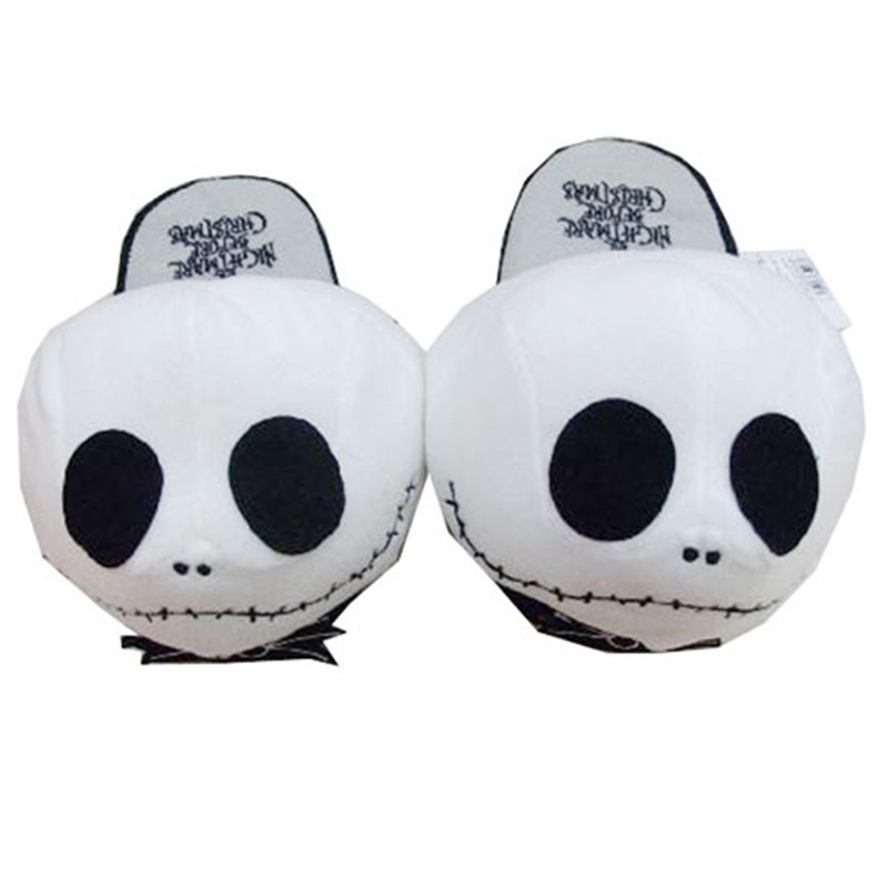 high quality soft peluche plush slippers toy cosplay halloween jack skellington nightmare before christmas wacky winter shoes in movies tv from toys