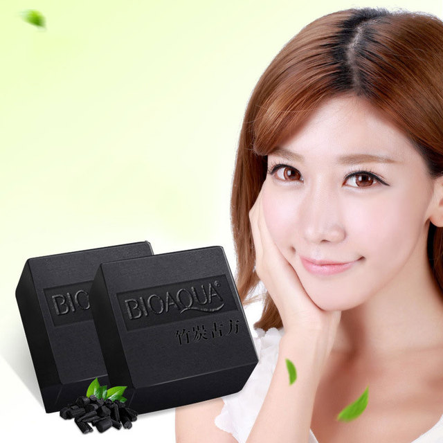 1Pc Bamboo Charcoal Essential Oil Facial Clean Soap Acne Treatment Blackhead Remove Oil Control Shrink Pores Soaps  YF20
