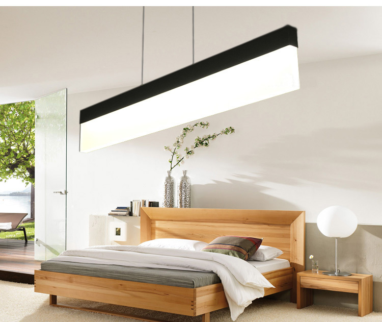 chandelier LED modern restaurant Acrylic sliver study bedroom lamp free shipping 110-240v vemma acrylic minimalist modern led ceiling lamps kitchen bathroom bedroom balcony corridor lamp lighting study