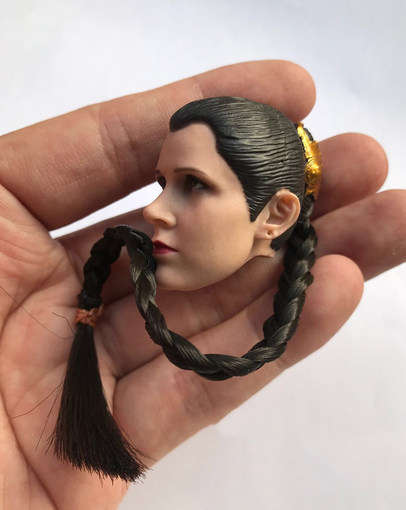 1 6 Leia Organa Solo head ATX015 Star Wars Princess Leia Solo 1 6 Scale Head Sculpt and Clothes set No Body in Action Toy Figures from Toys Hobbies
