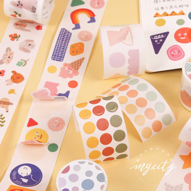 5 Rolls Cartoon Girl Washi Tape Sticker Scrapbooking Journal Stationery Craft
