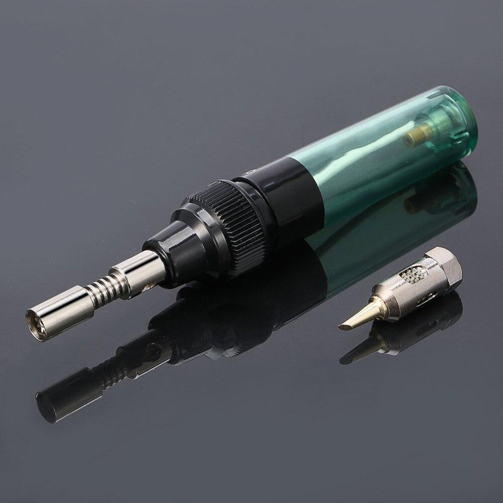 Hohe Qualität 1 stücke Stift Geformt Cordless Gas lötkolben DIY Taschenlampe Eisen Werkzeug/Löten eisen stift typ Tragbare transparent MT-100