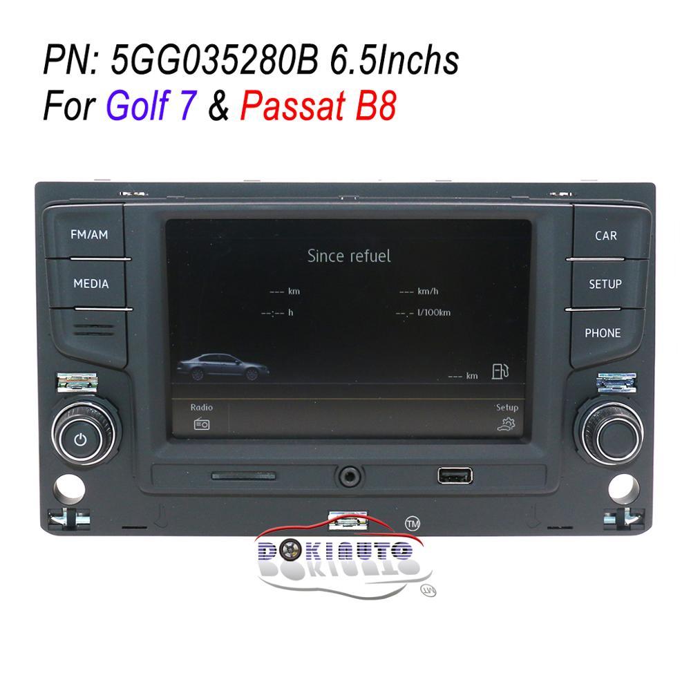English OSD 6 5 MIB Radio System Support MirrorLink Bluetooth Desay 5GG035280B For VW Golf 7