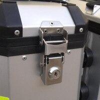 Caja de Herramientas de bloqueo lateral de acero inoxidable bolsa de bloqueo de piezas de hardware de aleación de aluminio de motocicleta hebilla fija diy hecho a mano