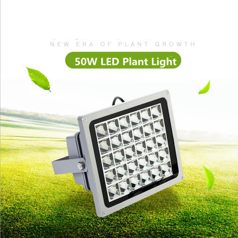 Waterproof 50W LED Light Plant Lights High Efficiency 85V-265V Lightings Fruits and Vegetables Red Blue Plant Glow Lights 50w 25 led red