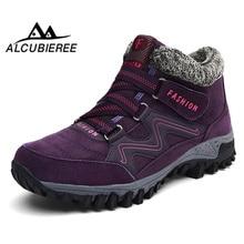 Купить с кэшбэком Winter women snow boots women push warm ankle boots wedge non-slip platform waterproof boots platform ankle boots women big size