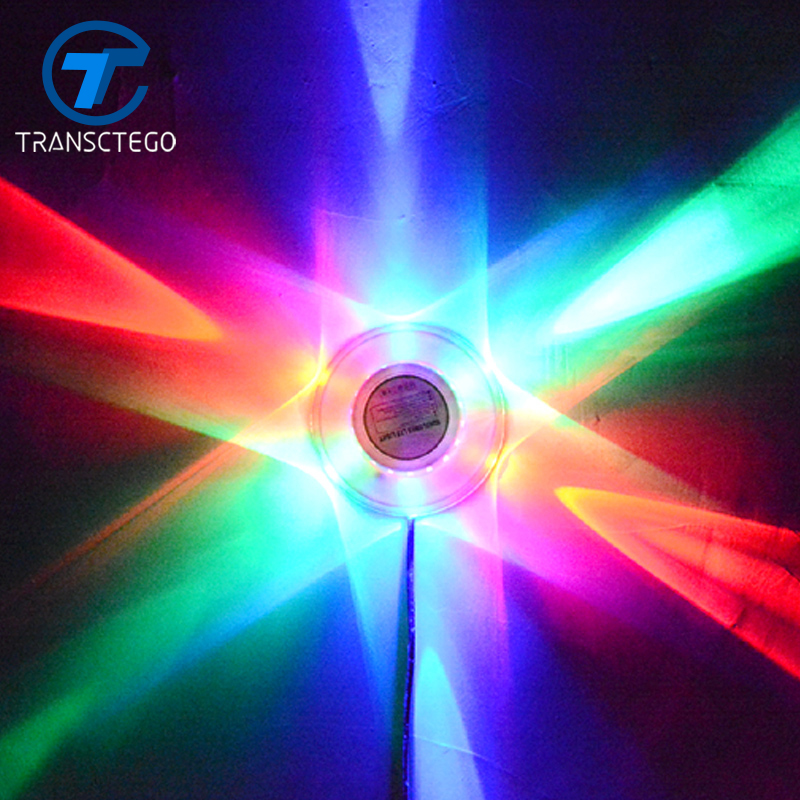 TRANSCTEGO Disco Led Stage Lamp Sunflower Revolving Light Music Voice Control Sun Background Wall Lamps Mini Party Laser Lights