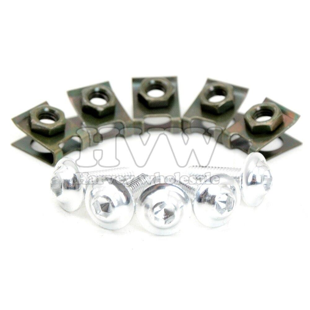 6mm CNC Motorcycle Fairing Body Work Bolts Screws 5 Pcs For HONDA CBR900RR CBR 900 919 893 RR Yamaha Virago 535