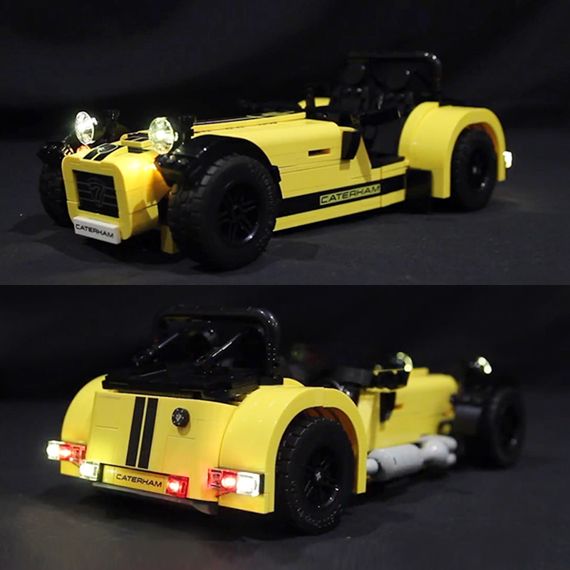 LED light for lego 21307 CATERHAM SEVEN 620R Race Car Building Blocks Bricks Toys for Kids Gifts(only light with Battery box)