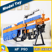 581PCS Model FN P90 Shot Gun Weapon For Military Assault Soldier CS GO Elastic Bullet Plastic Gear Shifting Compitable with Lego