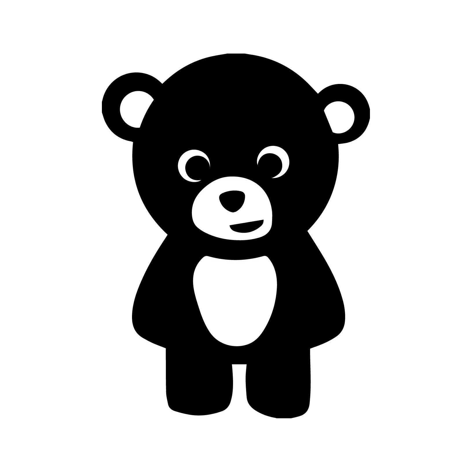 Милая плюшевая наклейка «Медведь», детская наклейка на бампер, украшение автомобиля, красивая и крутая наклейка s