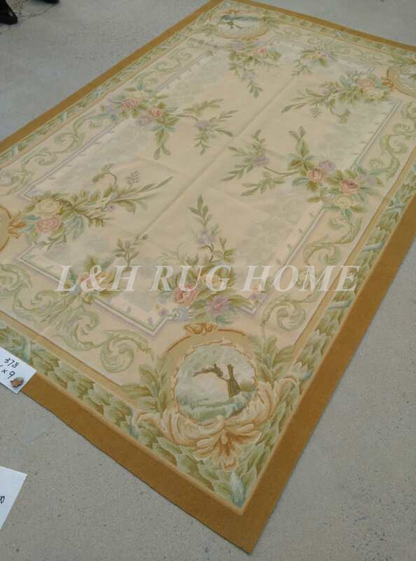 Free Shipping 6'X9' French Aubusson Rug, 100% hand woven New Zealand woolen rug - 4