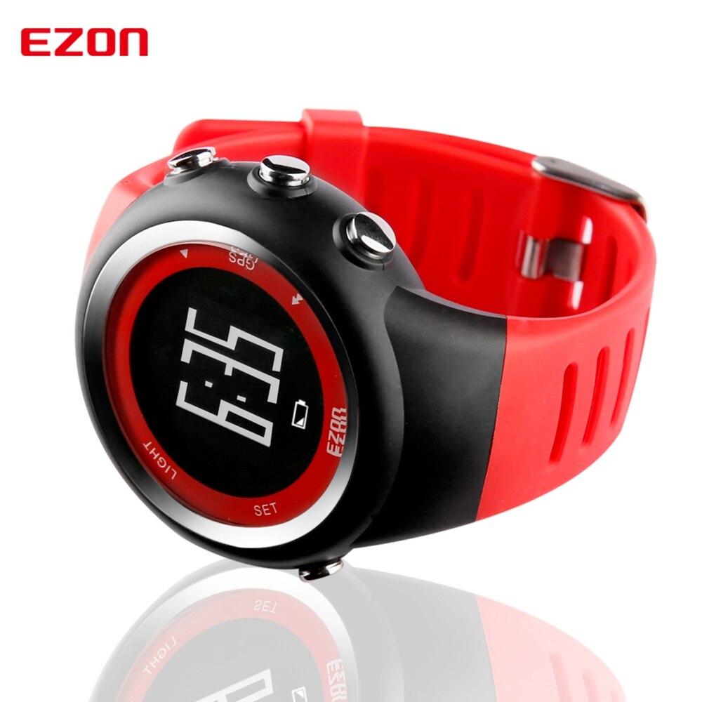 Top Marke Ezon T031 Wiederaufladbare Gps Timing Uhr Laufen Fitness Sport Uhren Kalorien Zähler Abstand Tempo 50 M Wasserdichte Uhren