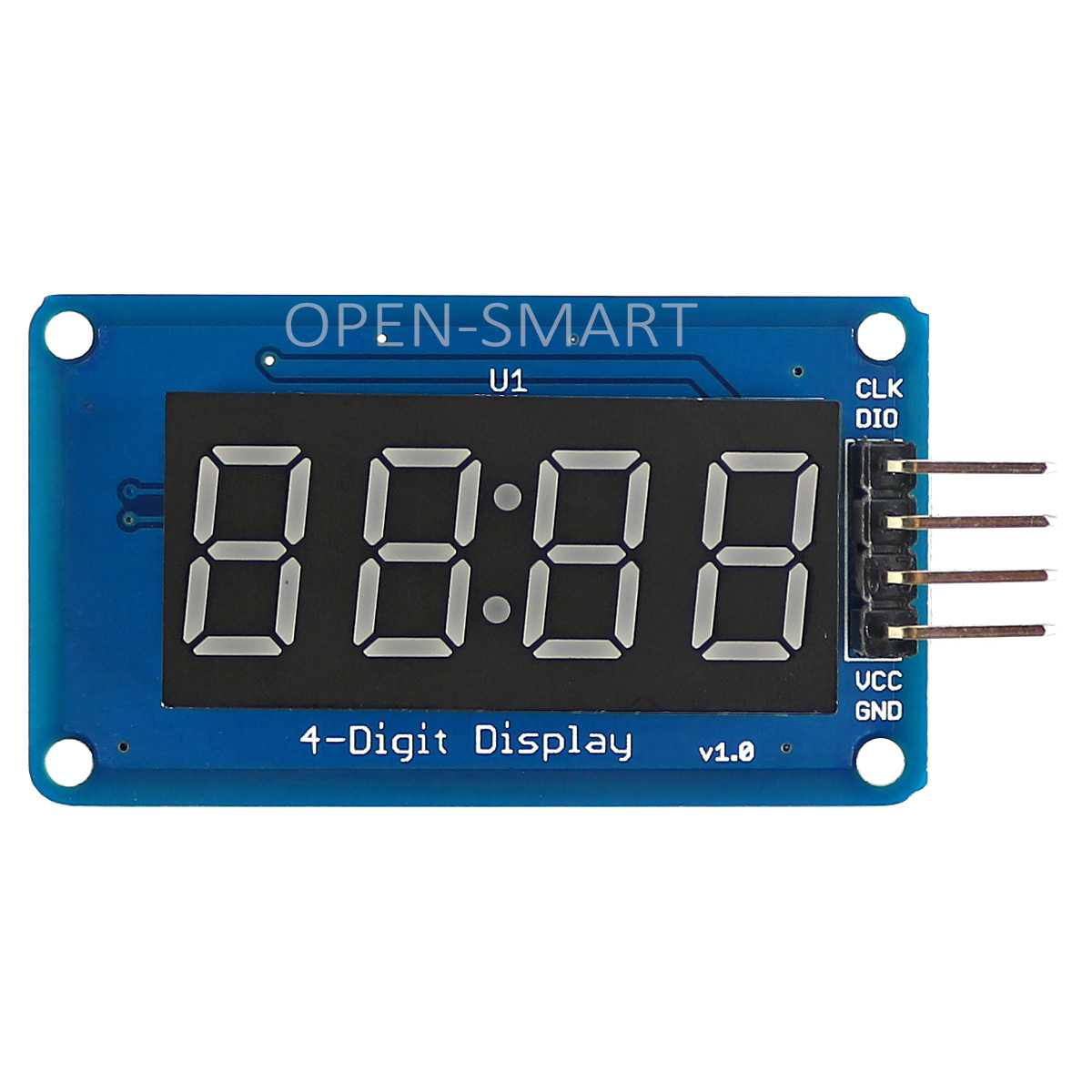 4 Digital Display Module, 8 Brightness Adjustable, with Clock Points Compatible with 5V/3.3V digital indoor air quality carbon dioxide meter temperature rh humidity twa stel display 99 points made in taiwan co2 monitor