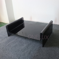 Customized Acrylic Pet Bed For Dogs Or Cats Clear Black/Cushion Available