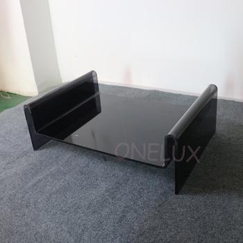 Dostosowane akrylowe łóżko dla psów lub kotów-wyraźna czerń poduszka dostępna tanie i dobre opinie Meble do salonu Szezlong Meble do domu PB170301 CHINA Nowoczesne ONE LUX 65W-45D-23H CM ACRYLIC clear black or customized