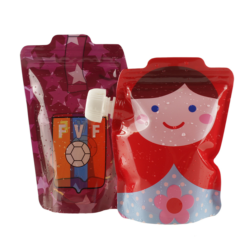 1PC Baby Beverage Water Bags Kids BMP Eco-Friendly Cartoon Lactation Reusable Food Pouch Cute Squeeze Feeding Pouches