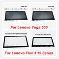 (С Рамкой) Для Lenovo Yoga 500 Ноутбук С Сенсорным Экраном Стекло + Дигитайзер Ассамблеи + Рамка Для Lenovo Flex 3 15 Серии LP156WF4. SPL1