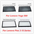 (Con marco) para lenovo yoga 500 laptop asamblea cristal de la pantalla táctil + digitalizador + bisel para lenovo flex 3 15 serie lp156wf4. spl1
