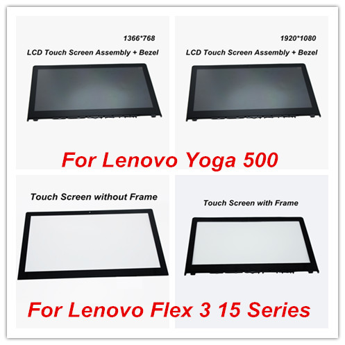For Lenovo Yoga 500-15IBD 80N6 Yoga 500-15ISK 80R6 Yoga 500-15IHW 80N7 LP156WF4.SPL1 LCD Display Touch Screen Assembly + Bezel mitsubishi 100% mds r v1 80 mds r v1 80