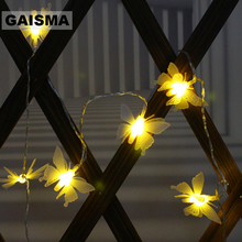 10M 100 Butterfly LED Christmas Garland String Lights Decoration Bedroom Fairy For Holiday Home Party Wedding Lighting