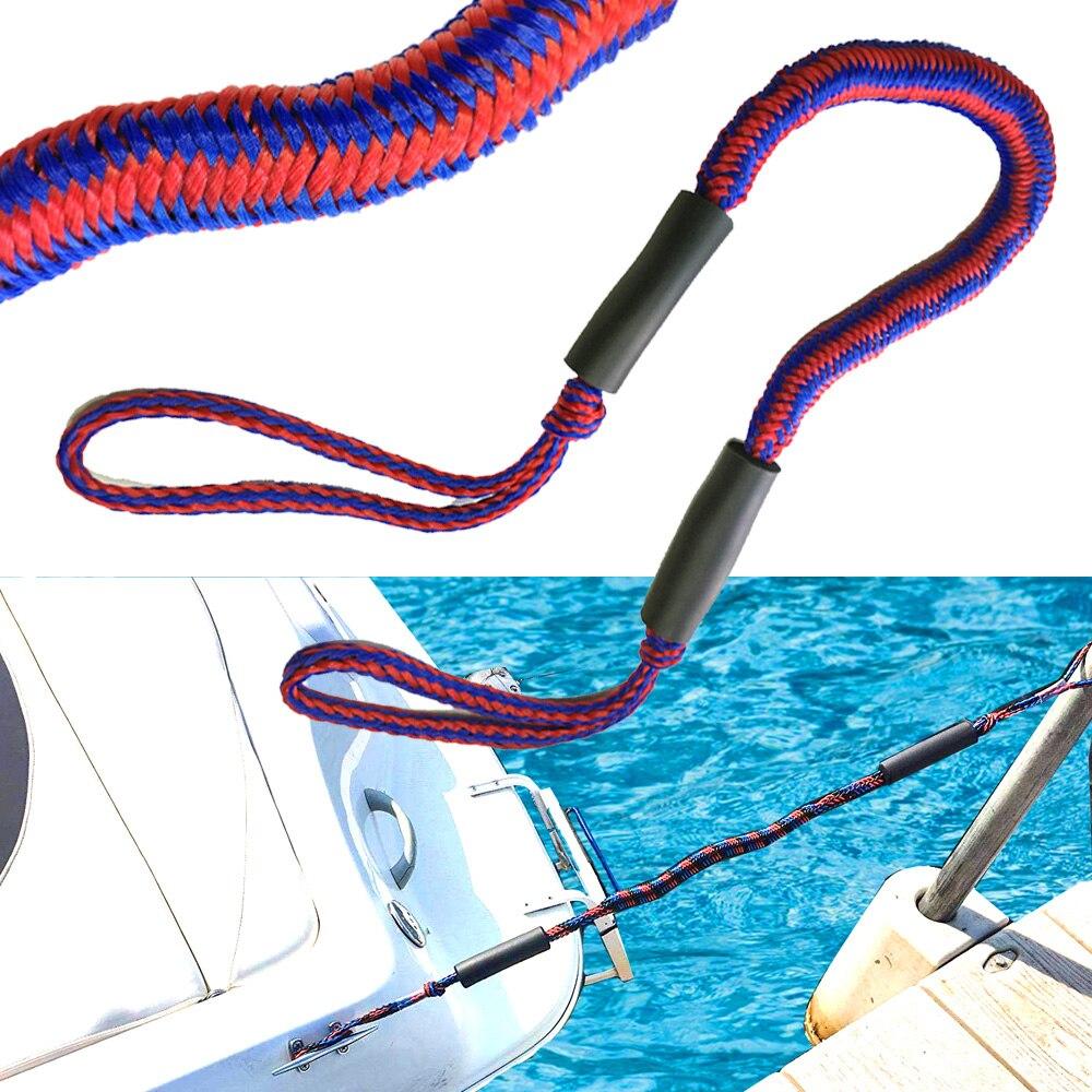 4pcs Nylon 5ft Boot Bungee Dock Leine Anker Festmacher elastische Leine