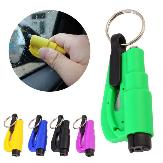 Car Cleaning Emergency Mini Safety Hammer Cleaning Auto Car Window Glass Breaker Seat Belt Cutter Keychain Auto Car Accessories
