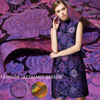 100x145cm/piece Fancy high precision jacquard fashion fabric, big flower dress windbreaker fabric