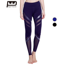 2017 Mesh Insert Woman Sexy Sport Pants Yoga Running Fitness Long Pants Slimming Soft Breathable Spandex Patchwork Pants