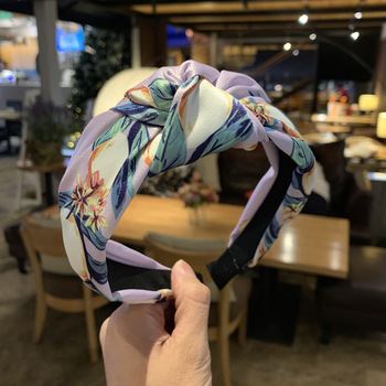 цены Fashion Girls Hair Accessories Boutique Satin Fabric Floral Simple Middle Knot Knotted Wide Brimmed Hairband Headband Hair Band