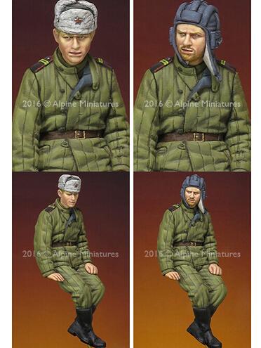 Os Kits de resina 1/35 WW2 Russo Tanque Tripulação sentado soldado Resina Modelo DIY BRINQUEDOS novo SEGUNDA GUERRA MUNDIAL WW2