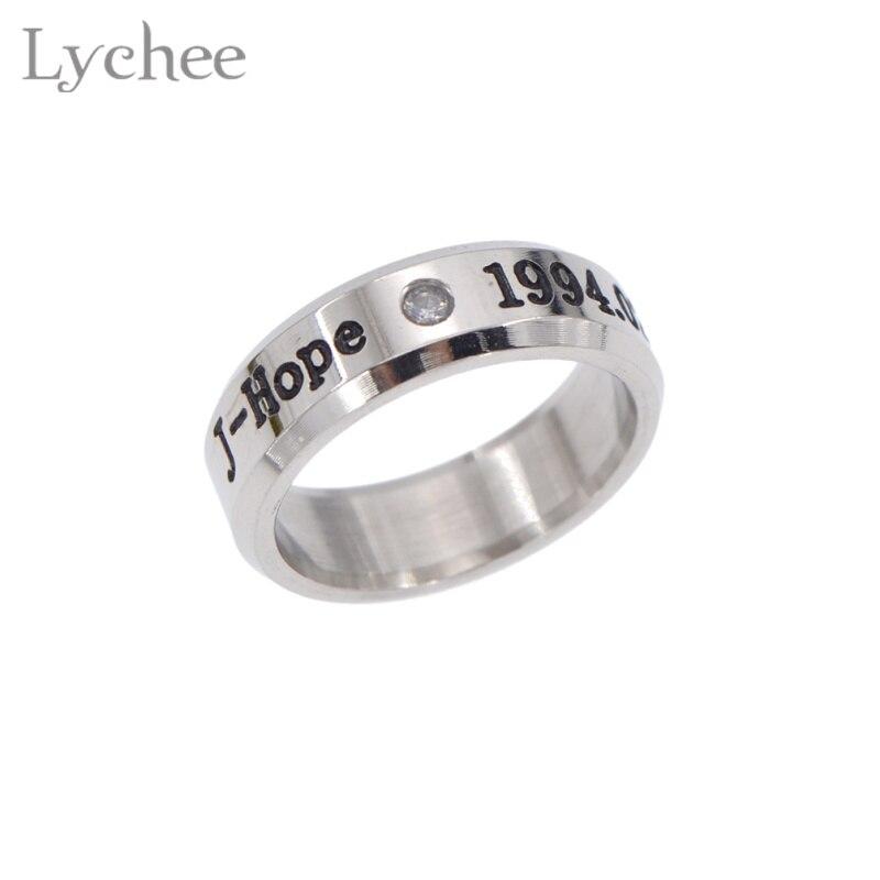 Lychee Hot KPOP BTS Bangtan Boys Ring Stainless Steel BTS Finger ...