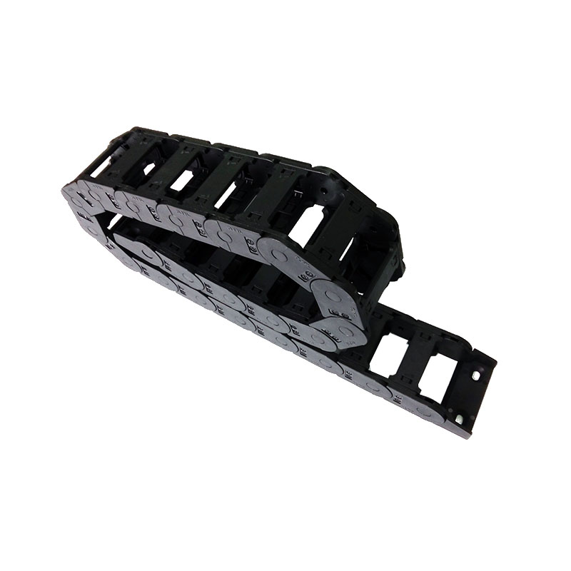 JFLO 25x57 Bridge Open on both sides Plastic drag chain Cable drag chain Wire Carrier with connector for CNC Router Freeshipping