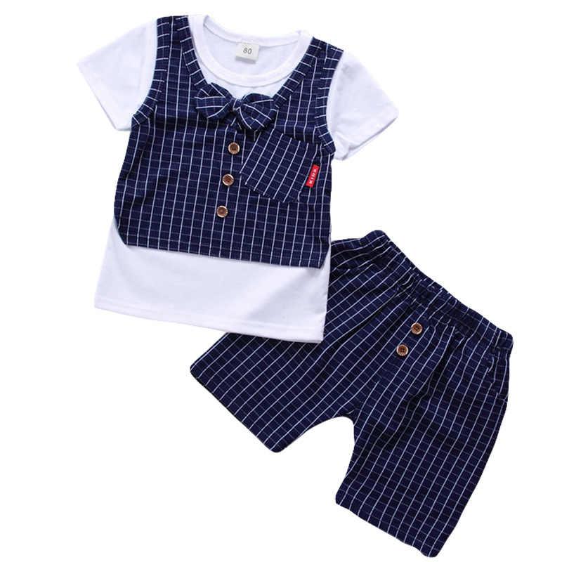 1ef4dad0fe52 Детская одежда, лето 2019, комплект одежды для маленьких мальчиков, футболка  + шорты,