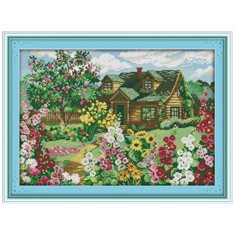 country cottage patterns counted cross stitch 11ct 14ct cross stitch rh aliexpress com country cottage cross stitch kits country cottage cross stitch pinterest
