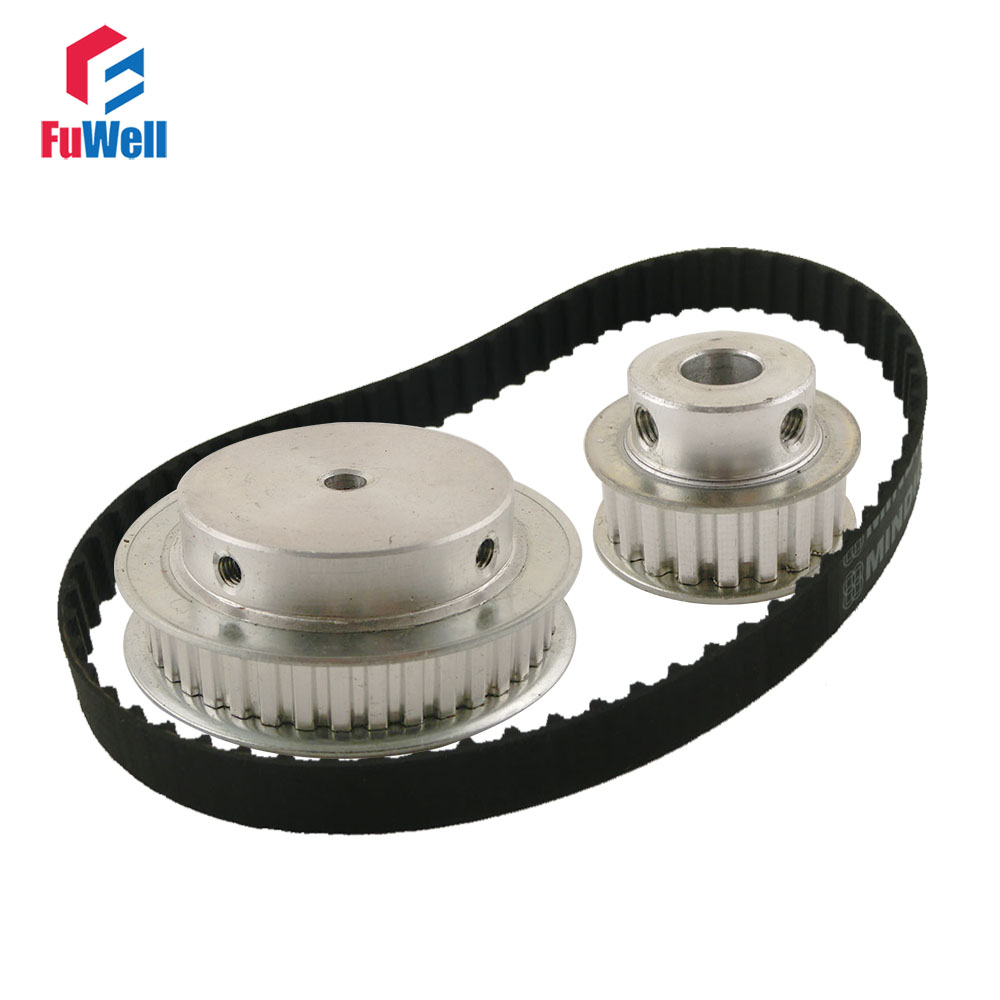 XL Reduction Timing Belt Pulley Set 20T:40T 1:2/2:1 Ratio Gear Kit Shaft Center Distance 80mm 124XL Toothed Belt Pulley женские пуховики куртки xl slim 2 2 1 1